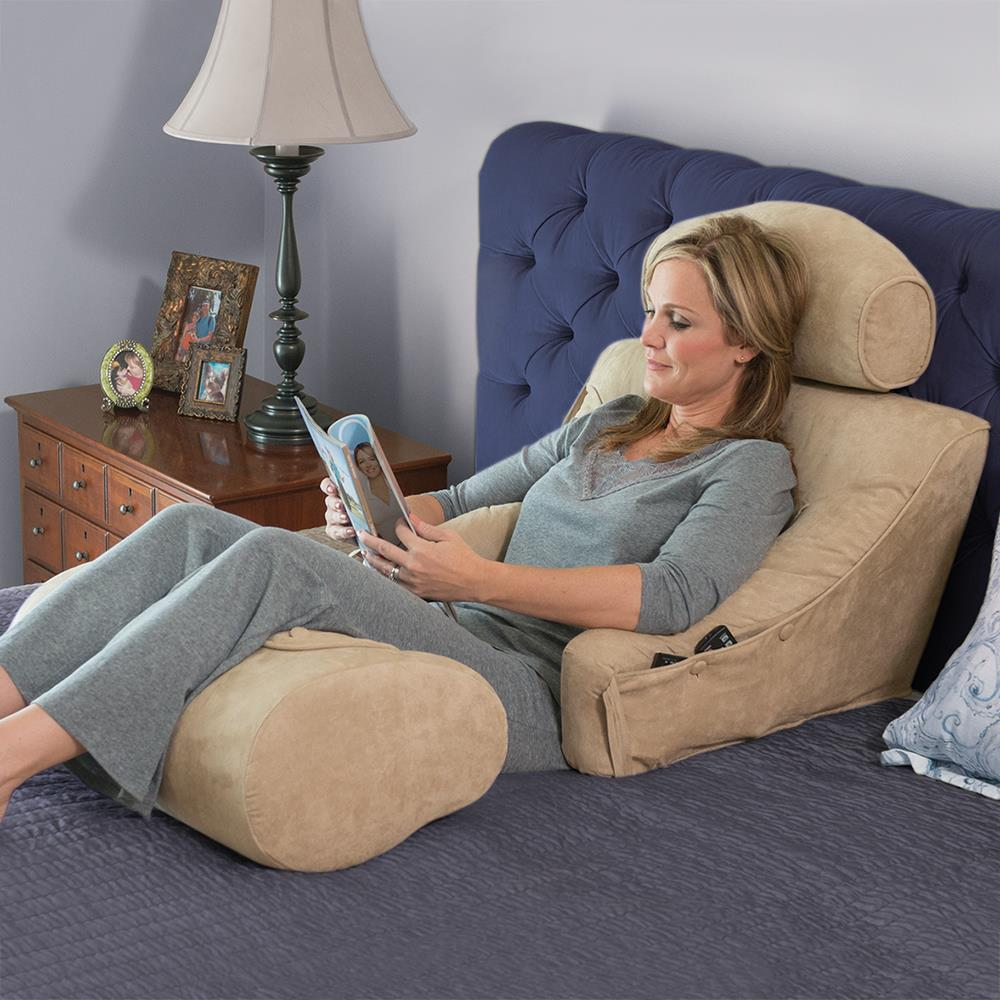 The superior comfort bed lounger hammacher schlemmer for Bed lounge pillow walmart