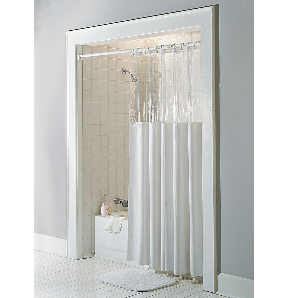 Curtains Ideas best shower curtain : The Anti-Microbial Shower Curtain - Hammacher Schlemmer