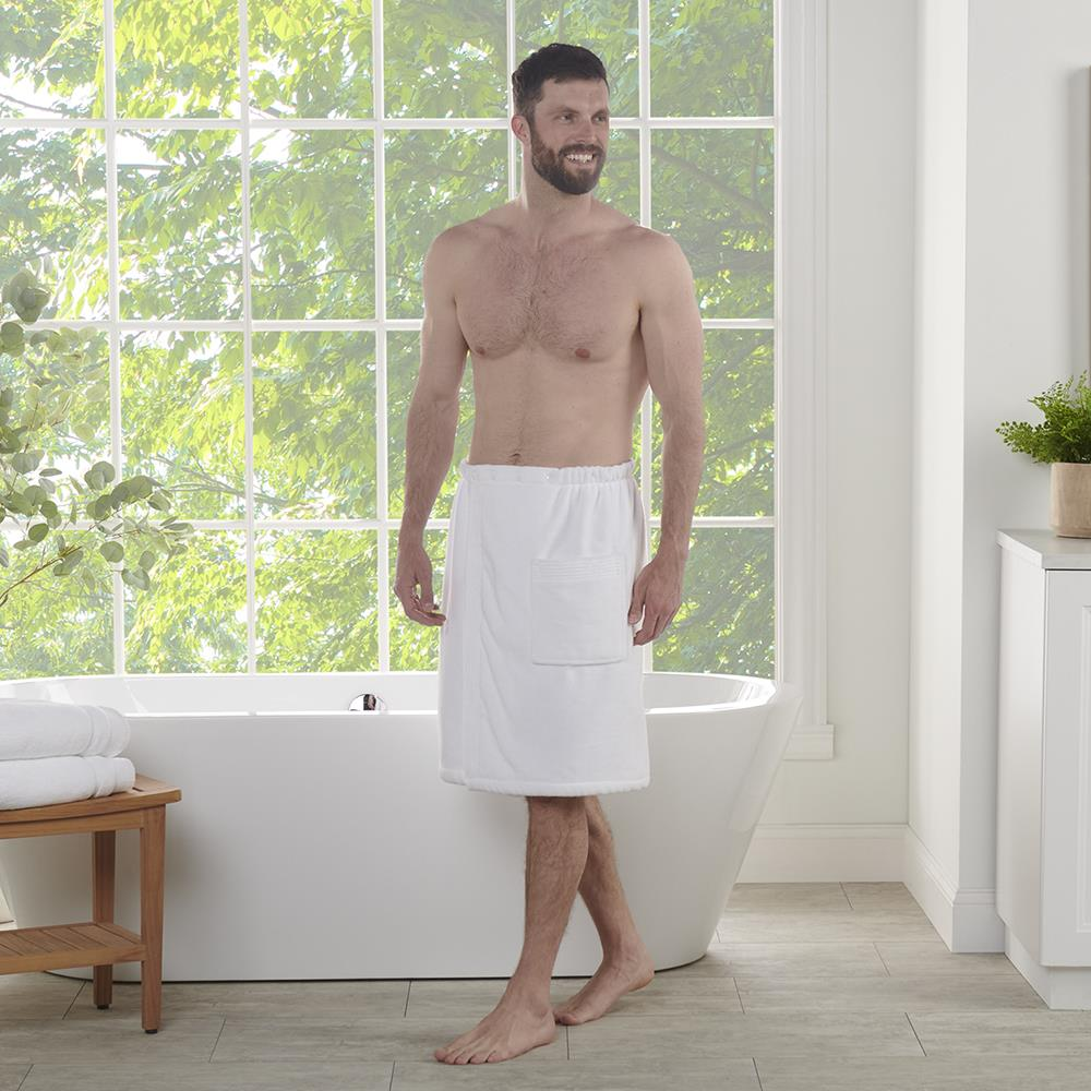 The Genuine Turkish Luxury Shower Wrap Men 39 S Hammacher