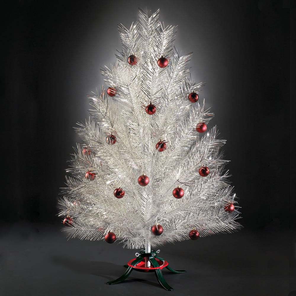 The Classic Aluminum Christmas Tree - Hammacher Schlemmer
