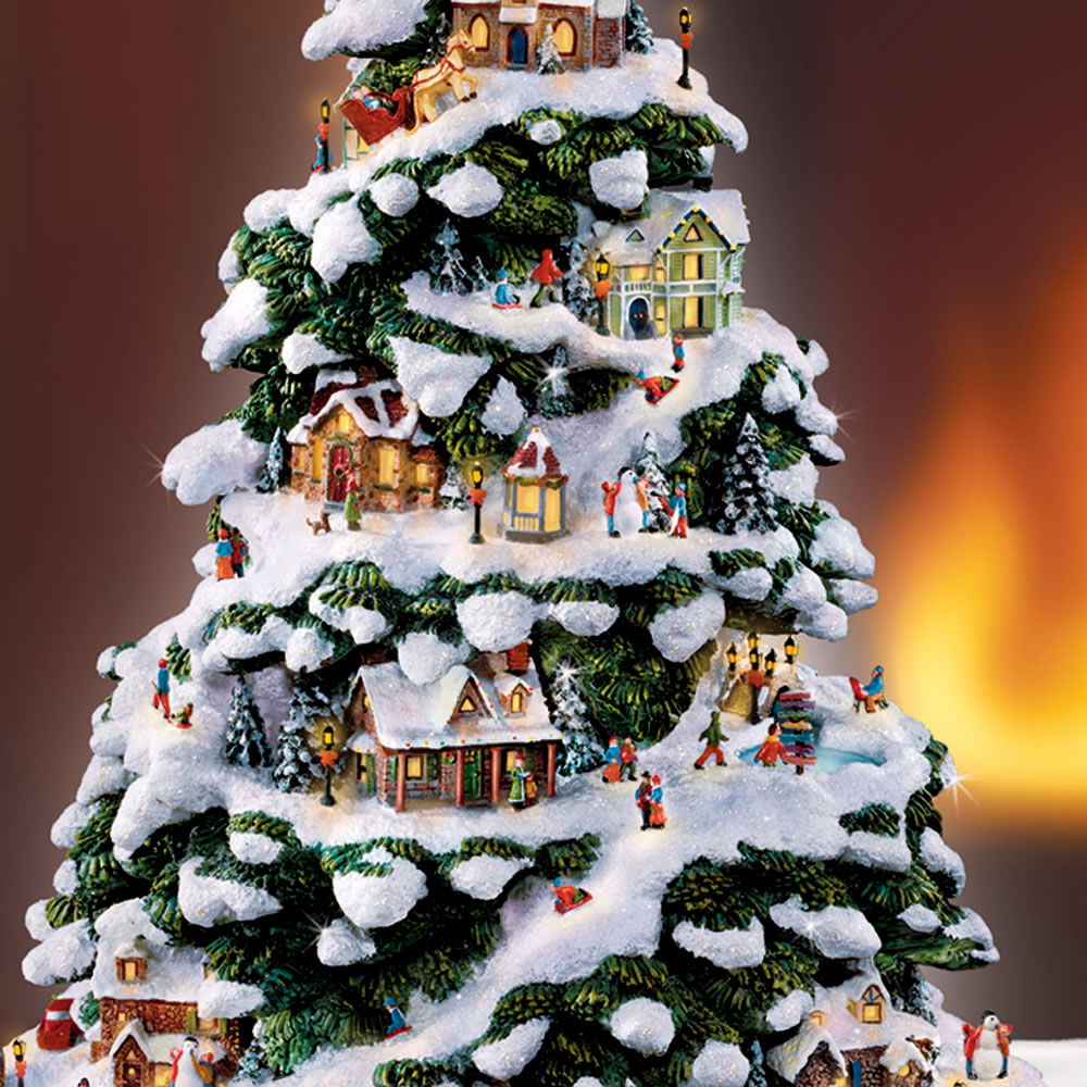The Thomas Kinkade Illuminated Tree Village 2