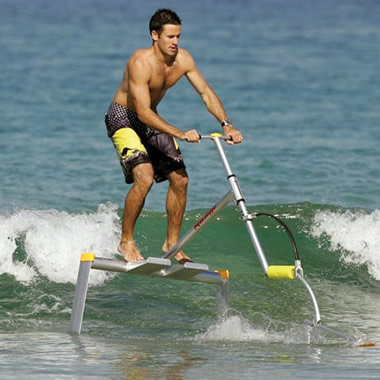 The Hydrofoil Water Scooter.