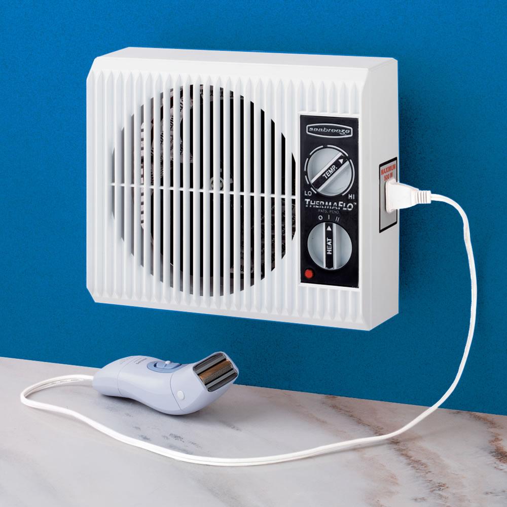 The Off The Wall Bathroom Heater Hammacher Schlemmer