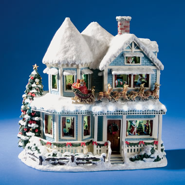 The Thomas Kinkade Night Before Christmas Talking House