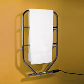 The Classic English Heated Towel Stand - White Enamel Plated.
