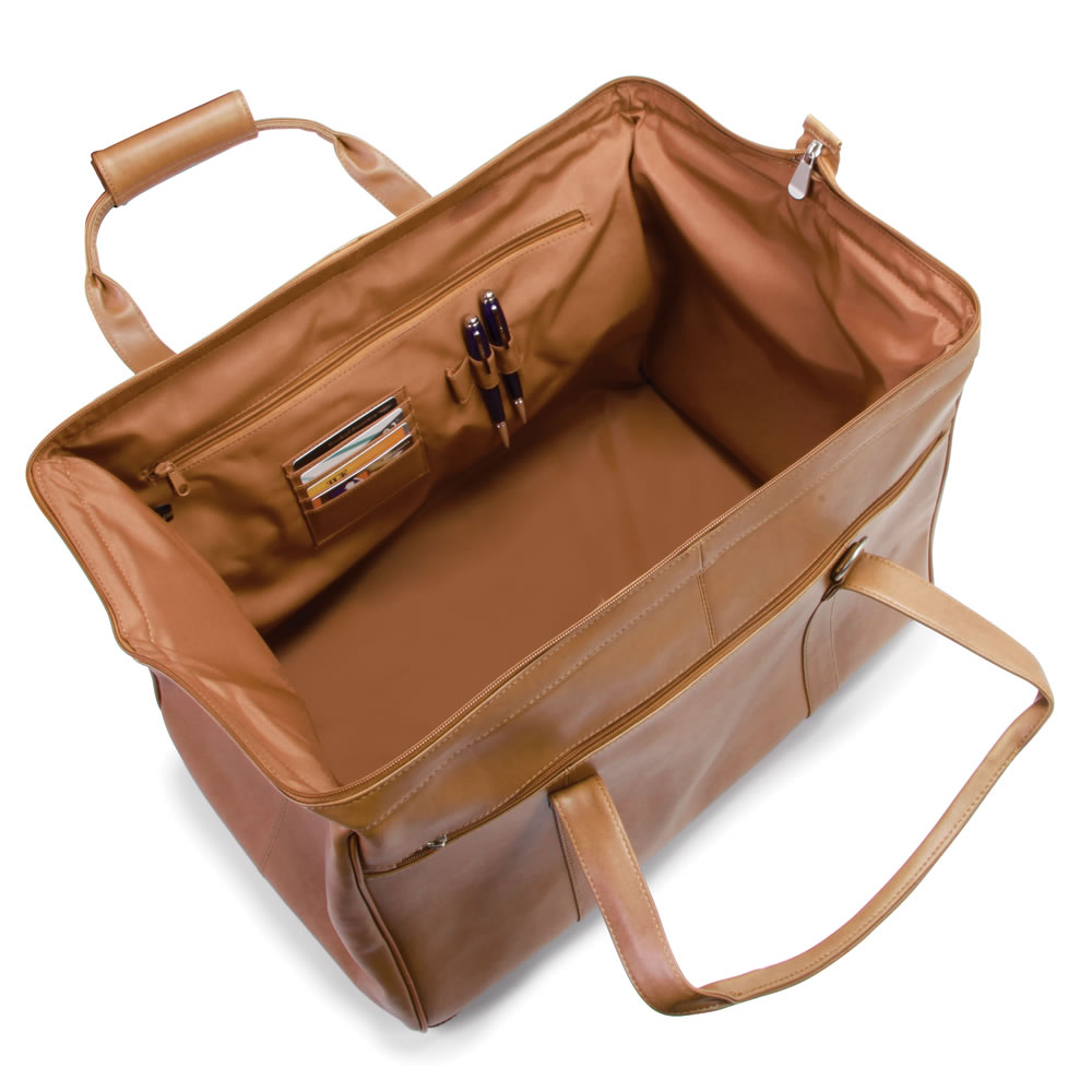 The Widemouth Leather Weekend Bag 3