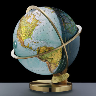 The 12-Inch Solar Cycle Lighted Globe.
