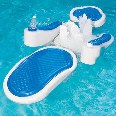 The Hydro Massage Pool Float Hammacher Schlemmer