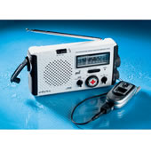 The Water Resistant Hand Crank Radio/Cell Phone Charger.