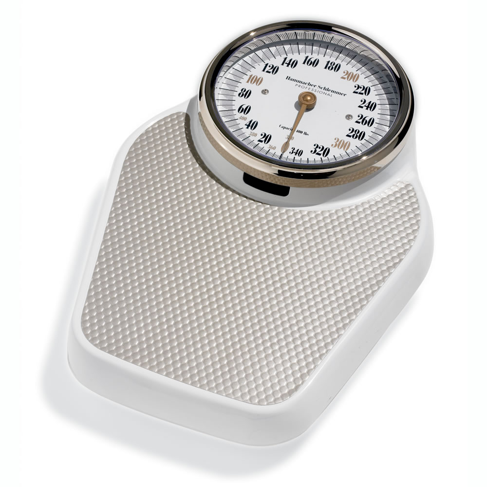 Bathroom Scale the large-dial bathroom scale - hammacher schlemmer