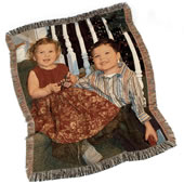 The Personalized Woven Photographic Image Throw.