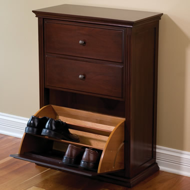 The Hideaway Shoe Cabinet.