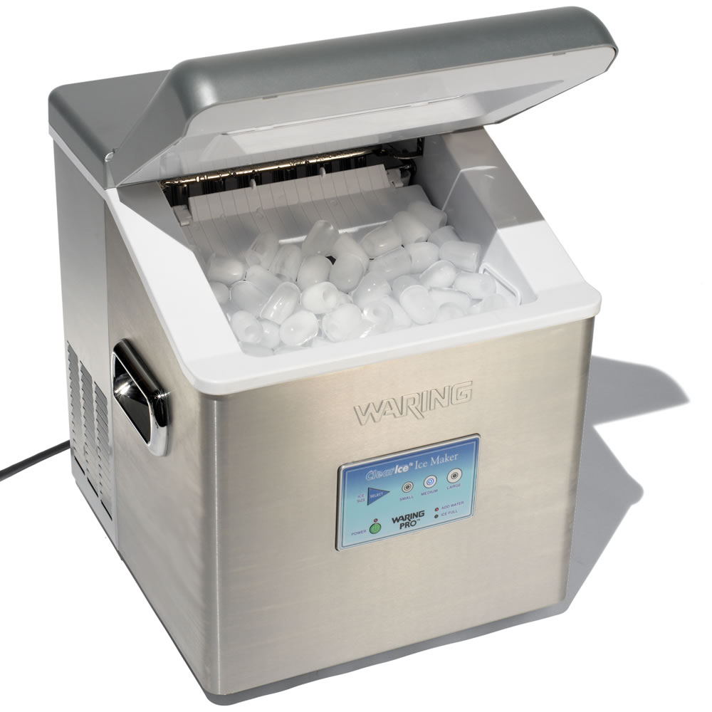 Countertop Ice Maker Youtube : The High Capacity Countertop Ice Maker - Hammacher Schlemmer