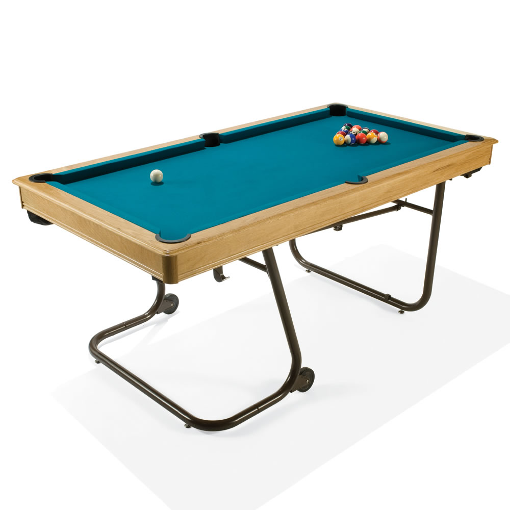 The space saving billiards table hammacher schlemmer - Space needed for pool table ...