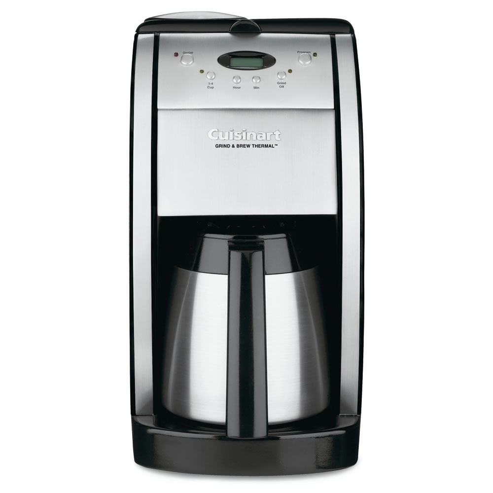 Coffee maker with grinder and thermal carafe - The Thermal Carafe Coffee Maker With Grinder
