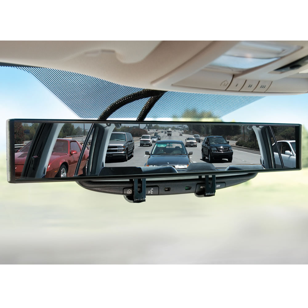 the no blind spot rear view mirror hammacher schlemmer. Black Bedroom Furniture Sets. Home Design Ideas