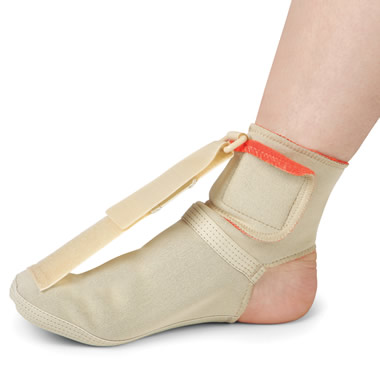 The Nighttime Plantar Fasciitis Therapy Brace.