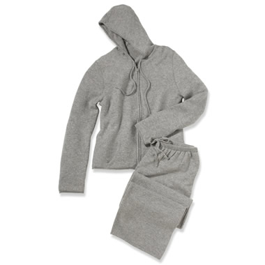 The Lady's Washable Cashmere Activewear Set.