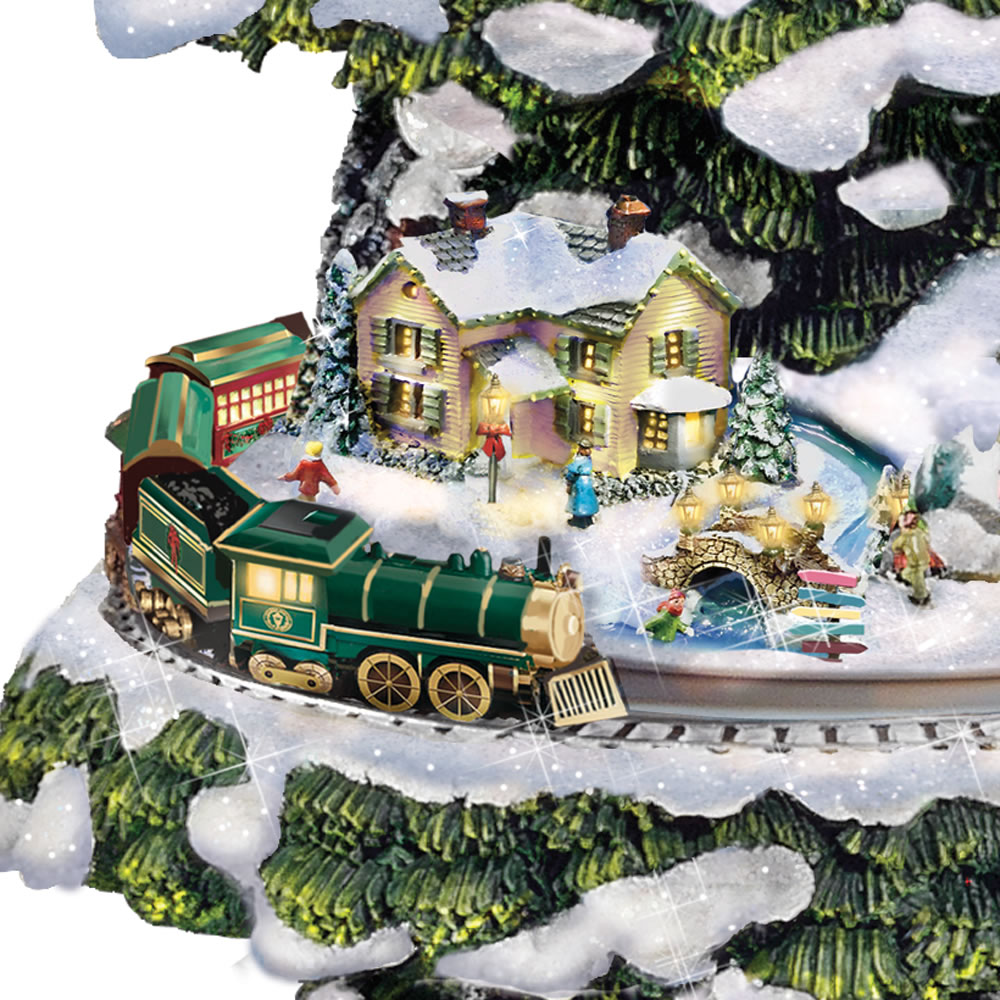The Thomas Kinkade Animated Christmas Tree3