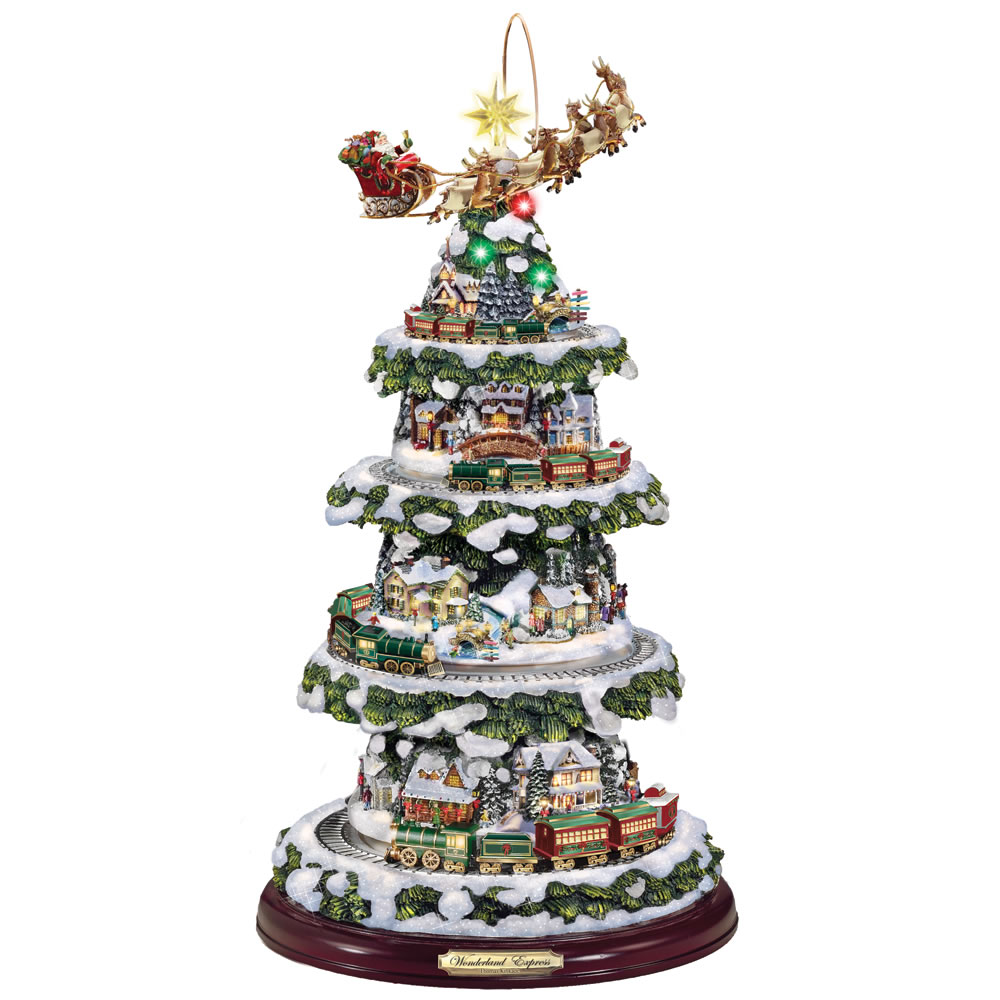 The Thomas Kinkade Animated Christmas Tree Hammacher