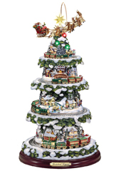 The Thomas Kinkade Animated Christmas Tree.