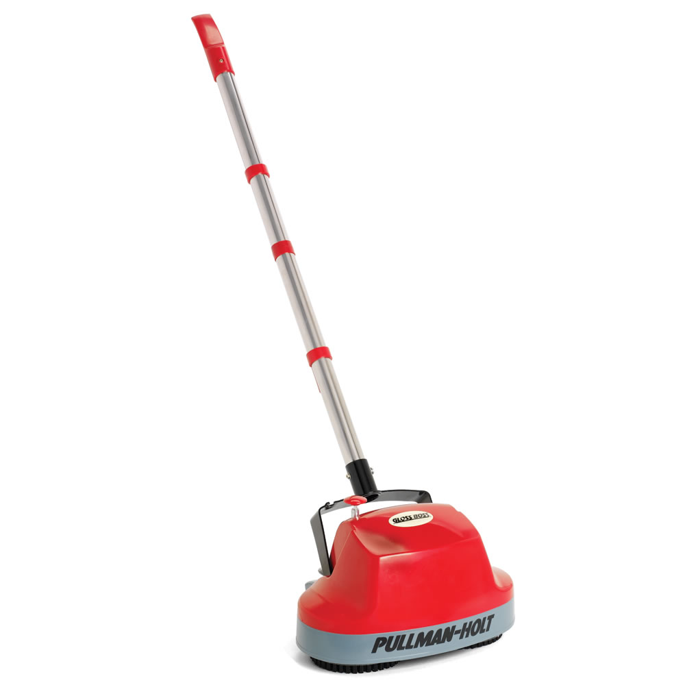 The hard floor scrubber with spray applicator hammacher for Floor scrubber
