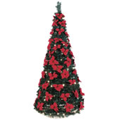 The 6 Foot Instant Pop Up Lighted Poinsettia Tree.