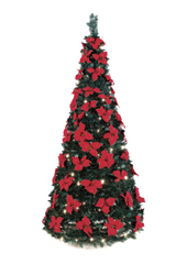 The 6 Foot Pop-Up Poinsettia Tree