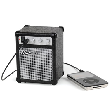 The Miniature Amp iPod Speaker.