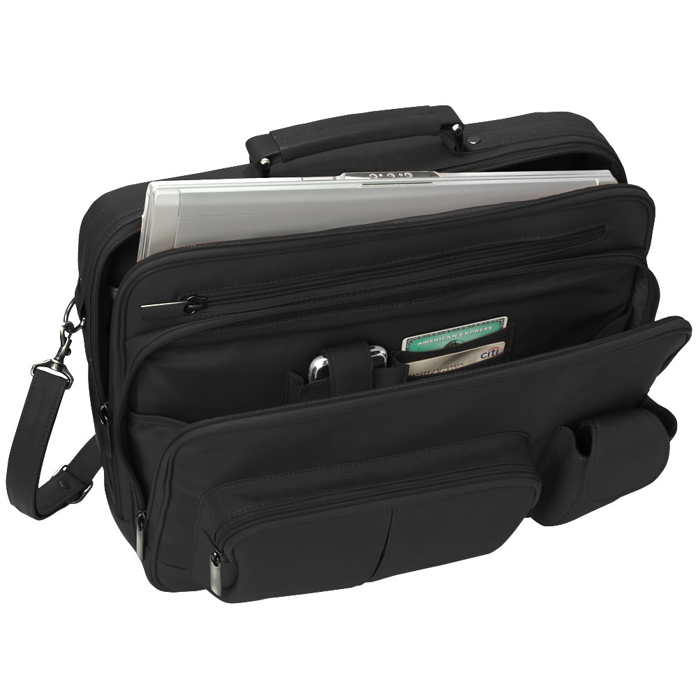 The Organized Traveler's Leather Laptop Bag 1