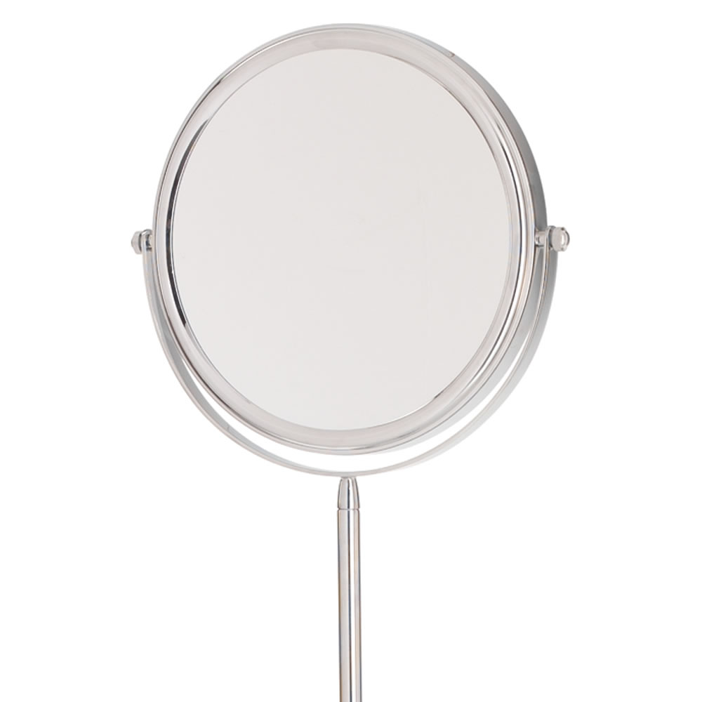 Floor stand mirror adjustable