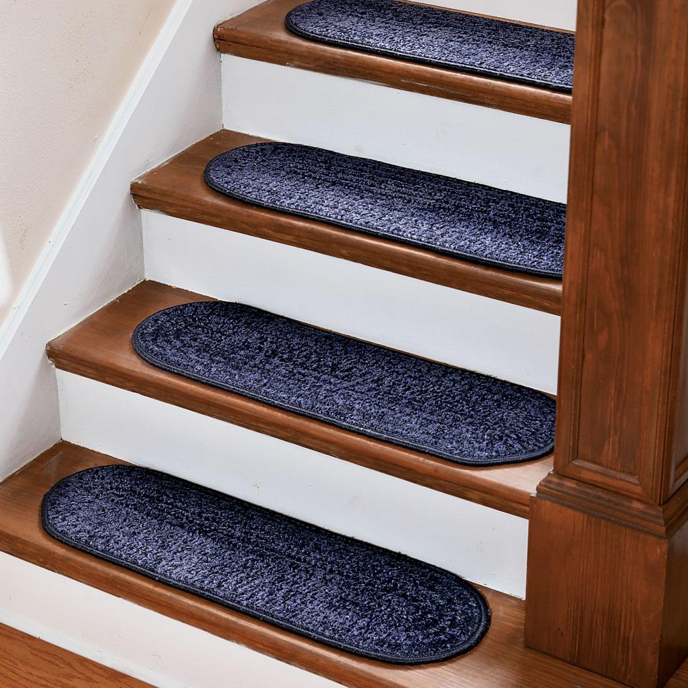 The no slip stair treads hammacher schlemmer for Stair treads