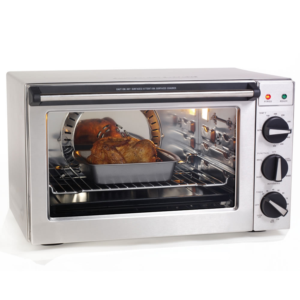 Countertop Rotisserie Oven Canada : The High Capacity Countertop Convection Oven - Hammacher Schlemmer