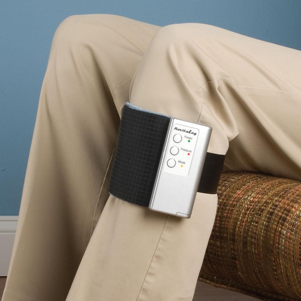 The Portable Compression Leg Massager Hammacher Schlemmer