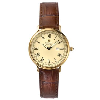 The World's Thinnest Calendar Watch (Gold).