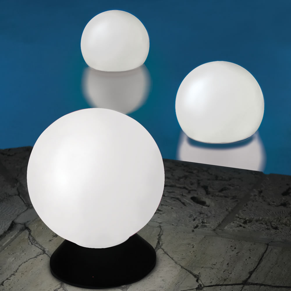 The Place Anywhere Solar Orb Light Hammacher Schlemmer