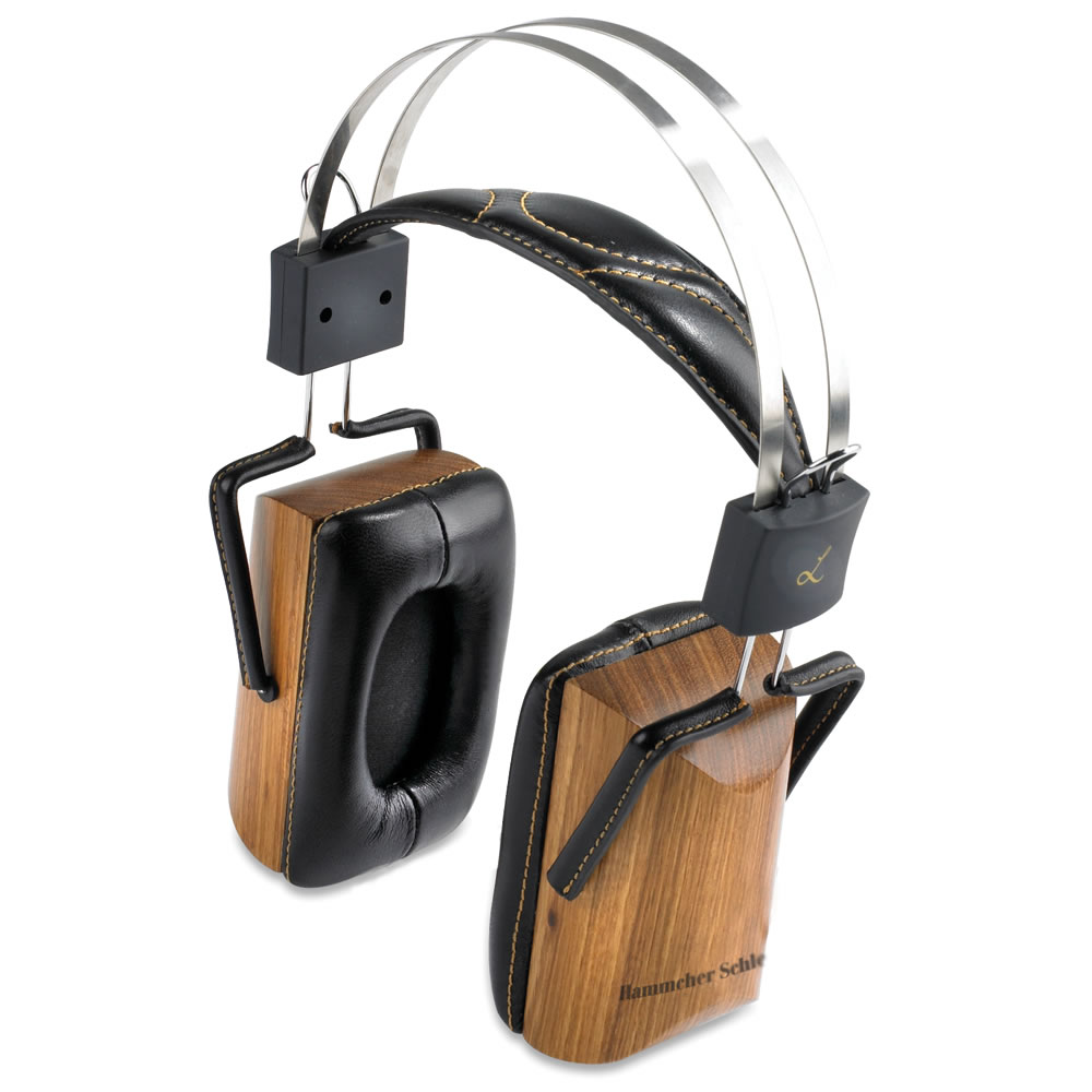 The Zebra Wood Headphones - Hammacher Schlemmer