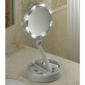 The Foldaway Lighted Vanity Mirror.