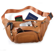 The Organized Traveler's Leather Hip Pouch.