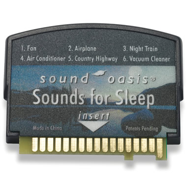 Sounds for Sleep Card for The Authentic Sound Oasis Machine.