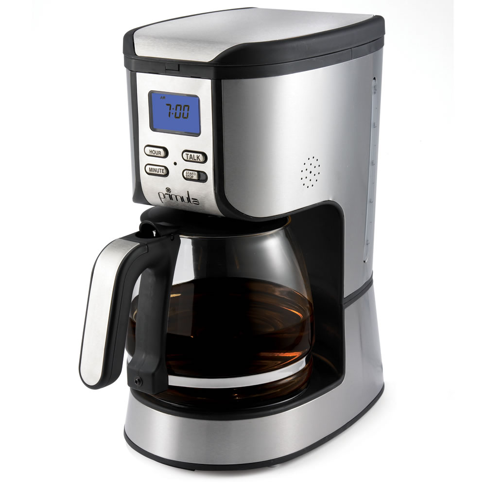 the talking coffee maker hammacher schlemmer