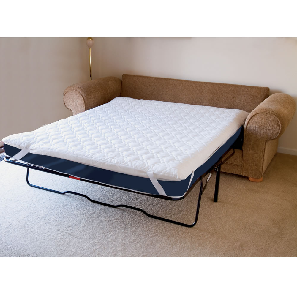 The Memory Foam Sofabed Mattress Pad Queen Hammacher Schlemmer