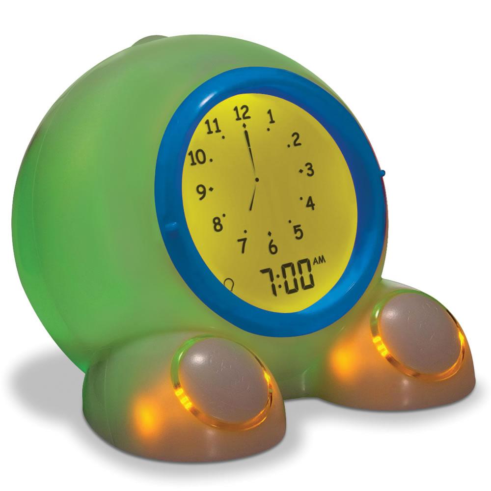 The Talking Teaching Alarm Clock Hammacher Schlemmer