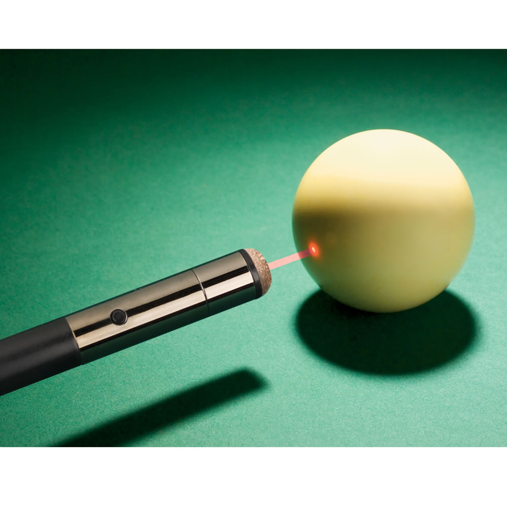The Laser Guided Pool Cue Hammacher Schlemmer