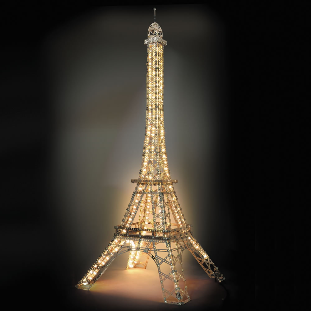 The Five Foot Illuminated Eiffel Tower Kit Hammacher