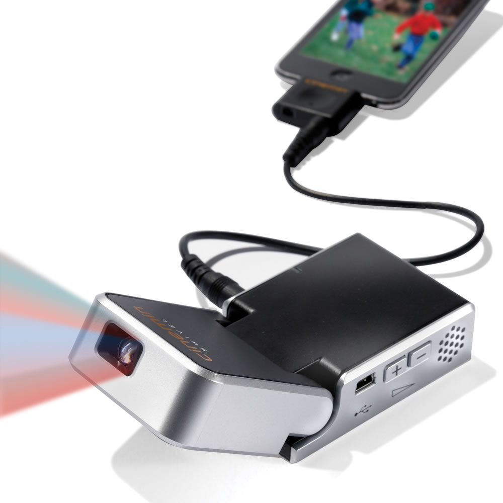 The ipod video projector hammacher schlemmer for Ipod projector