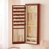 The Wall Mounted Lighted Jewelry Armoire.