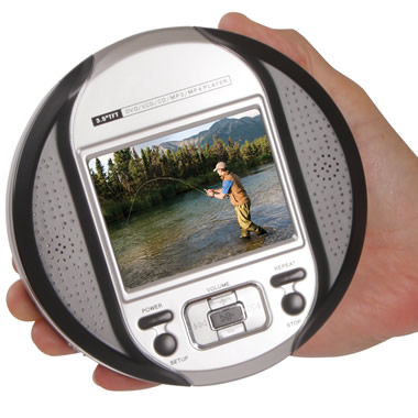 The Palm Sized DVD Player.