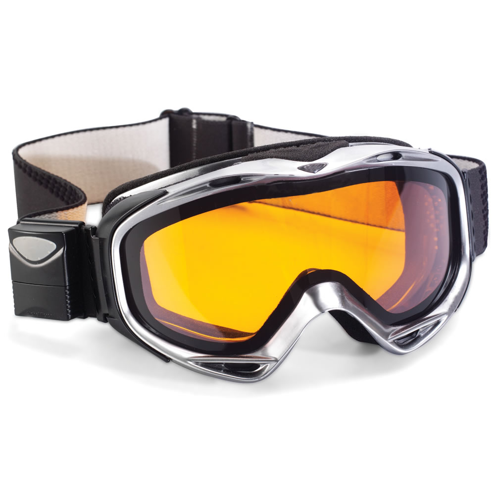 electronic ski goggles  The Electronic Tint Ski Goggles - Hammacher Schlemmer