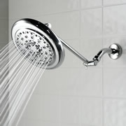 The Pressure Boosting Rainfall Showerhead (Nickel).